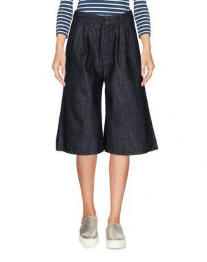Джинсовые брюки-капри BARK. Цвет: синий