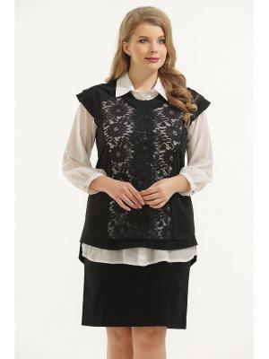 Блузка Maria. Цвет: черный, белый