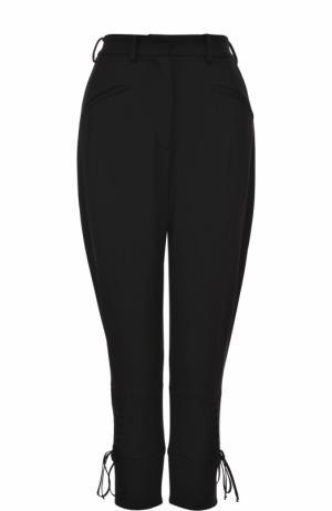 Однотонные укороченные брюки Dolce & Gabbana. Цвет: черный