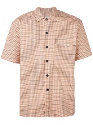 Рубашка с короткими рукавами Ami Alexandre Mattiussi. Цвет: жёлтый и оранжевый