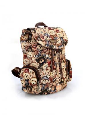 Рюкзак женский Danny Bear. Цвет: темно-коричневый, бежевый