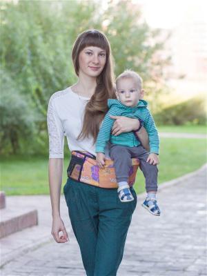 Пояс для ношения ребенка Хипсит Чудо-Чадо. Цвет: оранжевый