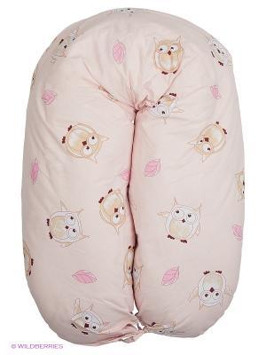Подушка EUROMAMA. Цвет: бежевый, розовый