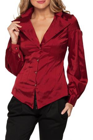 Рубашка Gloss. Цвет: бордовый