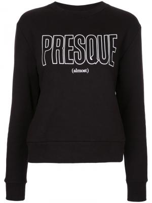 Presque print sweatshirt Être Cécile. Цвет: чёрный