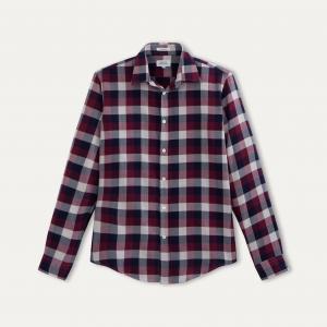 Рубашка в клетку HARTFORD. Цвет: красный