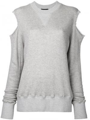Cut-out sweatshirt Bassike. Цвет: телесный