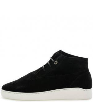 Черные замшевые ботинки NOBRAND. Цвет: черный