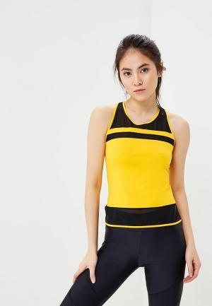 Майка спортивная Dali. Цвет: желтый