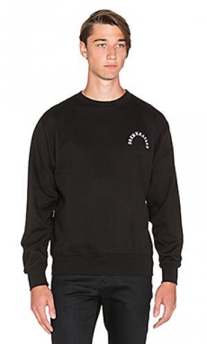 Пуловер type Born x Raised. Цвет: чёрный и белый