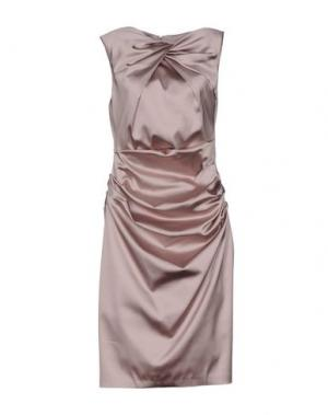 Платье до колена TALBOT RUNHOF. Цвет: голубиный серый