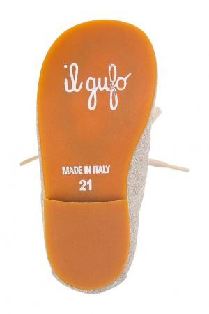 Ботинки с глиттером il Gufo. Цвет: золотой