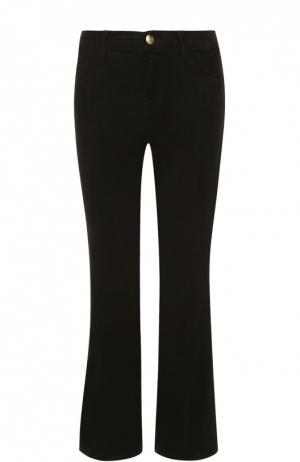 Укороченные расклешенные джинсы из вельвета J Brand. Цвет: зеленый