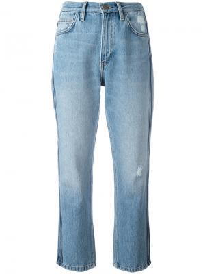 Укороченные джинсы с лампасами Mih Jeans. Цвет: синий