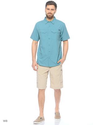 Рубашка Columbia. Цвет: бирюзовый