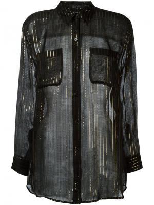 Рубашка с эффектом металлик Equipment. Цвет: чёрный