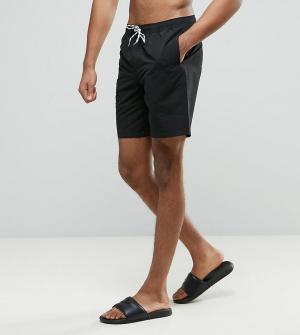ASOS Черные шорты для плавания средней длины TALL. Цвет: черный