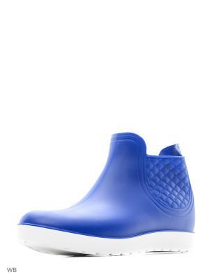 Резиновые полусапожки из поливинилхлоридной композиции женские. BRIS. Цвет: синий