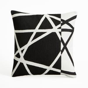 Наволочка на подушку-валик Filadefo AM.PM.. Цвет: черный/ белый