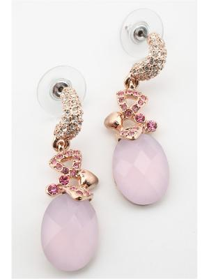 Серьги Inesse M. Цвет: золотистый, розовый