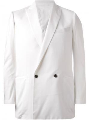 Двубортный пиджак Patchy Cake Eater. Цвет: белый