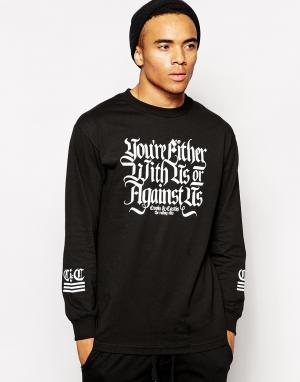Crooks & Castles Лонгслив With Us Or Against. Цвет: черный