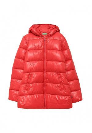 Куртка утепленная United Colors of Benetton. Цвет: красный