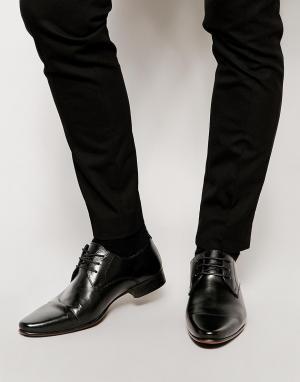 ASOS Кожаные туфли дерби. Цвет: черный