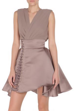 Платье ELISABETTA FRANCHI. Цвет: фиолетовый