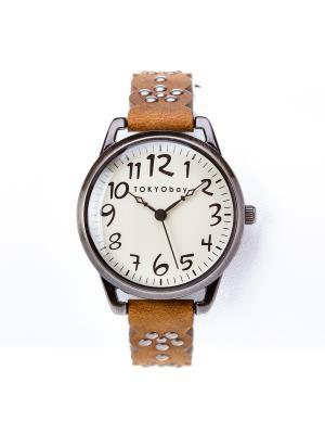 Часы Tokyobay Scallop Brown. Цвет: коричневый