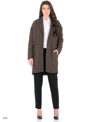 Пальто Play Fashion. Цвет: коричневый