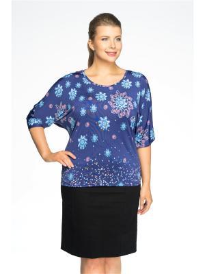 Блузка Pretty Woman. Цвет: синий