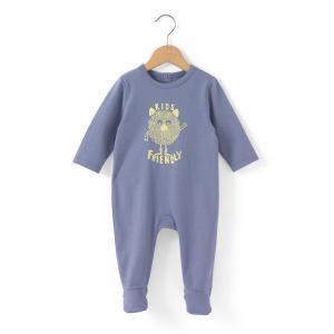 Пижама из хлопка с рисунком милое чудище 0 мес-3 лет R édition. Цвет: сине-серый