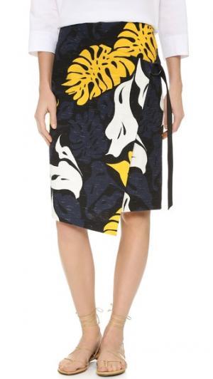 Принтованная юбка Cedric Charlier. Цвет: мульти