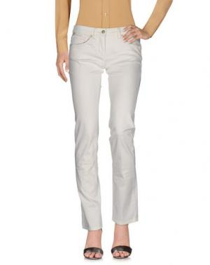 Повседневные брюки PIERO GUIDI. Цвет: белый