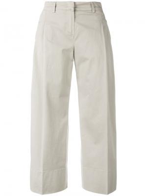 Укороченные брюки Fay. Цвет: серый