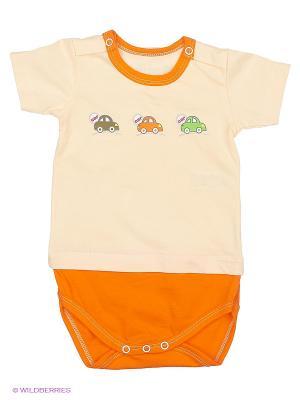 Боди футболка Наша Мама. Цвет: оранжевый
