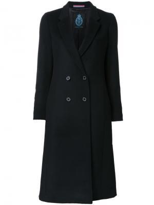 Двубортное пальто Guild Prime. Цвет: чёрный