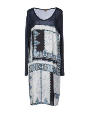 Платье до колена ALVIERO MARTINI 1A CLASSE. Цвет: темно-синий