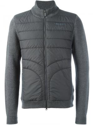 Куртка с вязаными рукавами Hackett. Цвет: серый