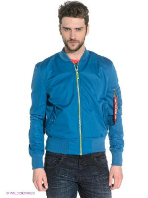 Куртка Alpha Industries. Цвет: синий
