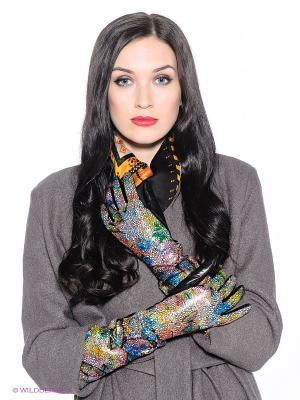 Перчатки Eleganse. Цвет: черный, белый, желтый, зеленый, синий