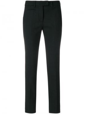 Укороченные суженные книзу брюки Incotex. Цвет: серый