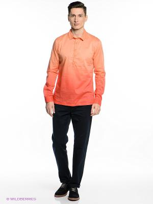 Рубашка Oodji. Цвет: светло-оранжевый