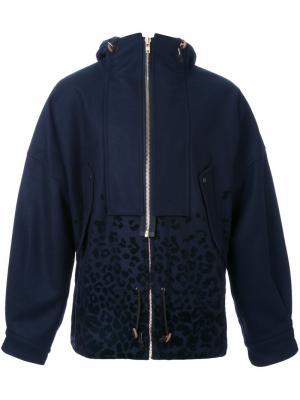 Куртка с капюшоном на молнии Kolor. Цвет: синий