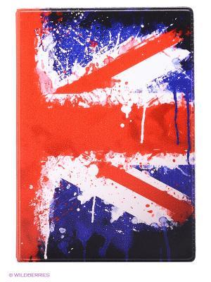 Обложка для автодокументов Британский флаг Mitya Veselkov. Цвет: красный, фиолетовый