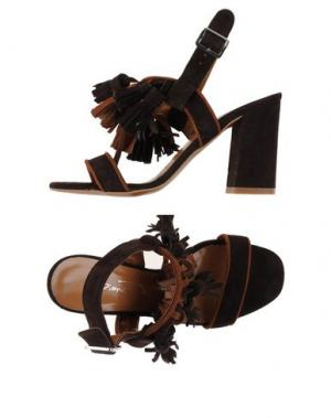 Сандалии BIANCA DI. Цвет: темно-коричневый