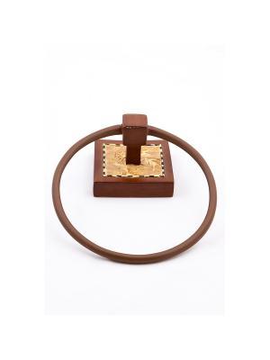 Кольцо для полотенца Blonder Home. Цвет: коричневый