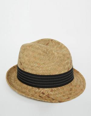 Catarzi Соломенная шляпа. Цвет: бежевый
