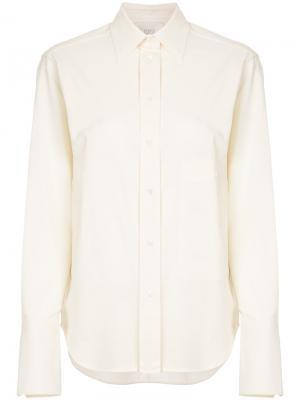 Pointed collar shirt Studio Nicholson. Цвет: телесный